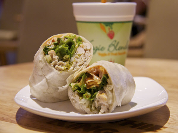 Spicy Chicken Wrap with Veggie Blend